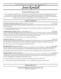 Culinary Resume Samples Resume Samples For Cooks Culinary Resume