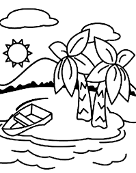 Small Picture Deserted Island Coloring Page crayolacom
