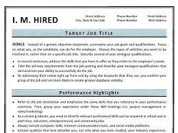 Functional Resume Template Sample