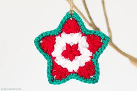 Crochet Decoration Patterns Hopeful Honey Craft Crochet Create Star Christmas Ornament