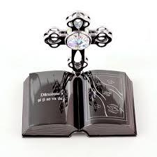 custom engraved cross on crystal figurine christening gifts chrome