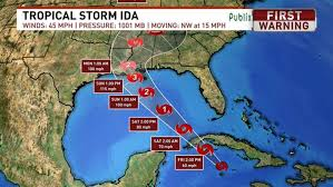 11 hours ago · tropical storm ida, churning in the caribbean sea, is forecast to intensify into a hurricane before making landfall along the gulf coast on sunday afternoon. Dc0wja Eqkk91m