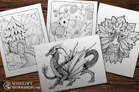 Coloring Pages Now For Sale Windloft Workshop