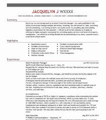 Asset Protection Manager Resume Sample | Livecareer