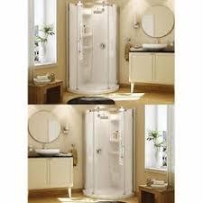 maax olympia round corner shower kits left or right door opening cm x cm in