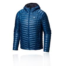 Details About Mountain Hardwear Mens Ghost Whisperer Hooded Down Jacket Top Blue Sports
