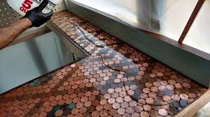 diy penny countertop simple copper countertops heathers southwestern penny countertop best concrete countertop mix