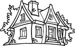 Рисунки и раскраски домов