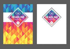 best seller book cover vector set vector geometric magazine covers