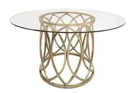 gold round dining table