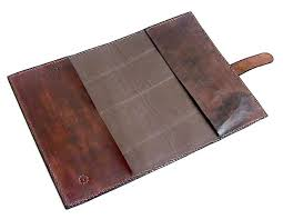 leather journal leather sketchbook buffalo hide bison leather blank book sleeve agate stone inlay