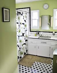 bathroom white tiles: vintage black and white tile bathroom