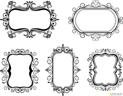 free ornate vine frame vector
