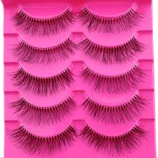 New Style 5 Pairs/ 10 <b>Pieces</b> Natural Sparse Cross Eye Lashes ...