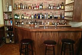 Funiture Large Wooden Home Bar Cabinet Designs With Bottles And - Home bar cabinets design