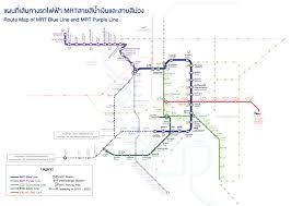 mrt bangkok metro map