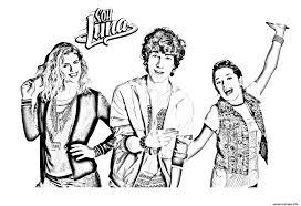 Coloriage Trio Soy Luna 6 Jecolorie Com