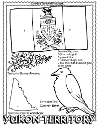 Small Picture Canadian Territory Yukon Territory coloring page Canadian Unit