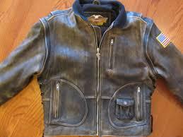 vintage original harley davidson panhead leather jacket men s size large reg