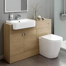 bathroom vanity units with basin and toilet oak effect bathroom vanity basin sink cistern unit furniture