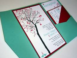 diy wedding invitations templates combined with black tree painitng and red loveleaves shape decoration beautify