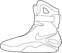 Jordan Shoe Coloring Book Online Also Shoes Coloring Pages Shoe