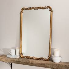 rectangle gold wall mirror gold