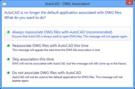 Set The Latest Version Of Autocad Or F X Cad As The Default For