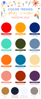 Pantone spring summer 2021 colour report was released and we live for it! Spring Summer 2020 Pantone Colors Trends Erika Firm
