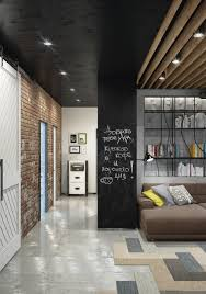 Chalkboard Wall Ideas. Decoration: Open Loft Bedroom - Industrial