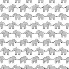 Elephant Pattern Gorgeous Seamless Pattern Made Of Smiling Grey Elephants Vector Image