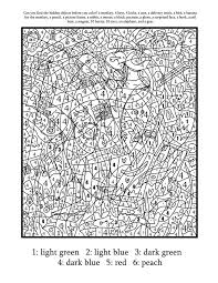 Small Picture Hard Color By Number Pages Printable Coloring Home