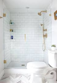 corner shelf for shower gorgeous all white bathroom with brass fixtures built in corner shelves and corner shelf