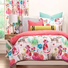 image of purrty cat teen girls bedding sets