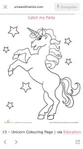 Worksheets Unicorn Coloring Page