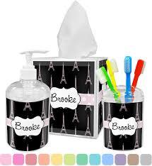 Black Bathroom Accessories Black Eiffel Tower Bathroom Accessories Set Personalized Potty