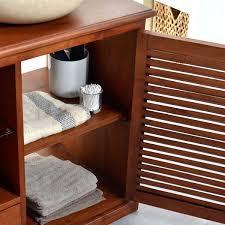 Designer Waschbeckenunterschrank Dunkles Holz Schrank Regal