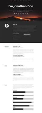 Resume Website Template 100 Best Free Online ResumeCV Website Templates and Themes 41