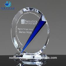 blue reflection unique crystal trophies and awards customize service awards gifts