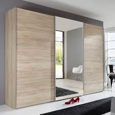 amazing slumberhaus ernie german made modern 270cm oak mirror sliding wardrobe doors