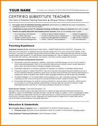 8 Substitute Teaching Resume Incidental Report