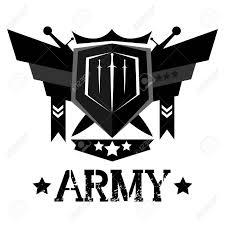 Emblem Design Abstract Army Emblem Design