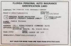 Erie mails a printed copy of an auto insurance id card to customers' homes as part of the insurance policy renewal. Pin By Jamie Korsen On Car Personal Injury Protection Bodily Injury Car Insurance