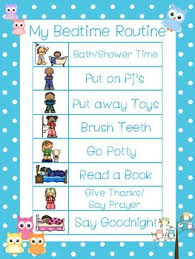 4 Owls Themed Daily Routine Charts Preschool 3rd Grade Routine Activity