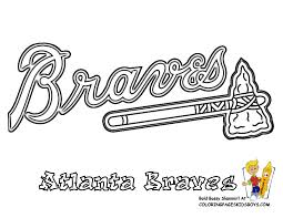 Atlanta Braves Coloring Page Of Baseball