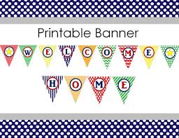 Welcome Home Baby Boy Banner Printable Welcome Home Banner For Baby Boy Or Missionary