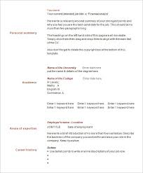 Single Page Resume Template Enchanting 48 One Page Resume Templates Free Samples Examples Formats