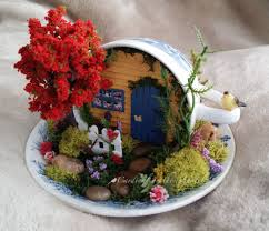 Fairy Garden in a Cup & Saucer, Miniature Cup & Saucer Garden by Cardinal on