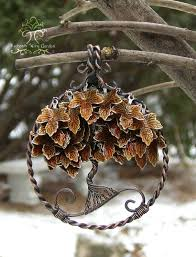 Wire Wrap Dream Catcher Tutorial Maple Autumn Fall Tree of Life Wire Wrapped Pendant Jewelry 53