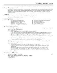 Cna Sample Resume Custom Resumes For Cna Baxrayder